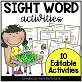 Sight Word Activities {Editable Activities}