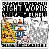Sight Words Activities 1st Grade & Kindergarten -First Gra