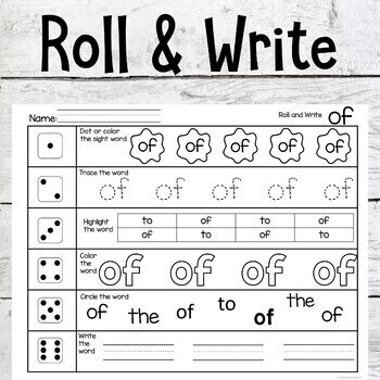 Sight Words Activities First 100