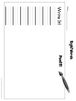 Sight Word Kindergarten Worksheets