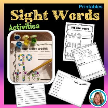 Sight Word Centers for Kindergarten