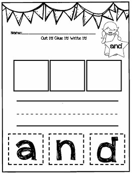 DOLLAR DAZE Sight Word Activities AND