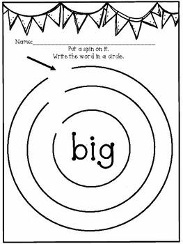 DOLLAR DAZE Sight Word Activities BIG