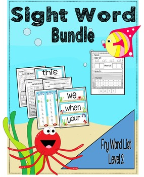 Sight Word Activity Bundle - Fry Word List 21 - 40