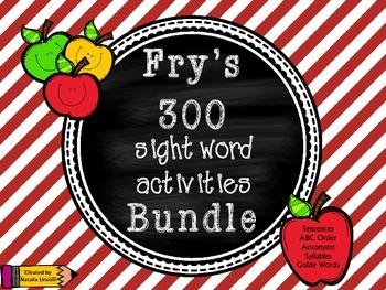 Sight Word Activities Bundle! Fry's 300