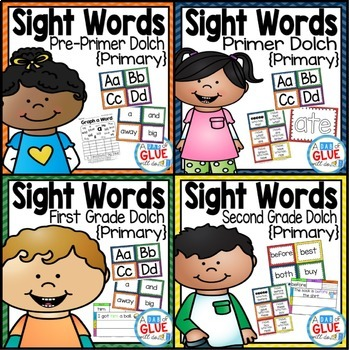 Sight Word Activities, Centers, and Word Wall: Dolch Mega Bundle {Primary}