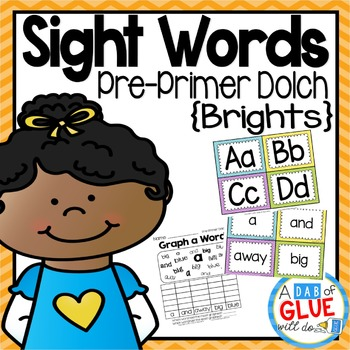 Sight Word Activities, Centers, and Word Wall: Dolch Pre-Primer {Brights}