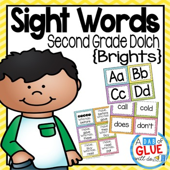 Sight Word Activities, Centers, and Word Wall: Dolch Second Grade {Brights}