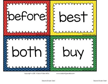 Sight Word Activities, Centers, and Word Wall: Dolch Second Grade {Primary}