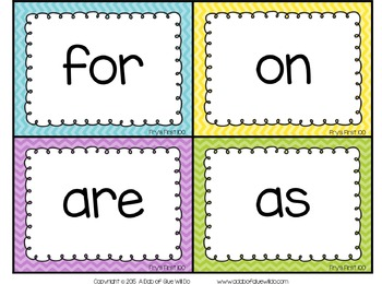 Sight Word Activities, Centers, and Word Wall: Fry's First 100 {Brights}