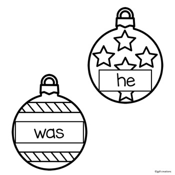Sight Word Activities - Holiday Theme