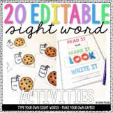 Sight Word Activities (EDITABLE!)