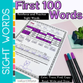 Sight Word Worksheets First 100 Fry Sight Words