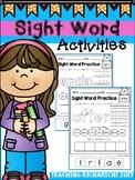 Sight Word Activities (First Grade) Coronavirus Packet Dis