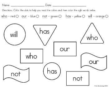 Sight Word Activities Freebie