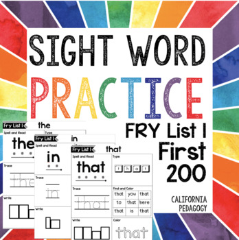Sight Word Activities: Fry List 1 First 200