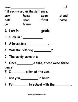 Sight Word Activities Grade 2