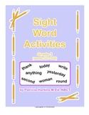 Sight Word Activities Grade 3