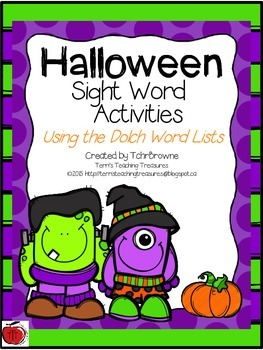 Sight Word Activities - Halloween Themed