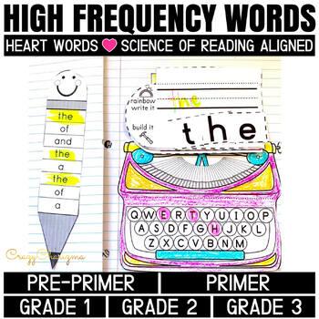 Sight Word Activities: Interactive Notebook BUNDLE (220 words PK-3)