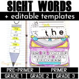 Sight Words Activities Editable Dolch