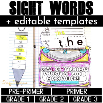 Sight Word Activities: Interactive Notebook BUNDLE (220 wo