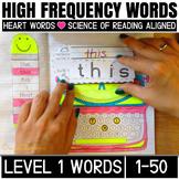 Sight Word Activities for kindergarten and First grade(level 1, 1-50 words)