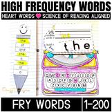 Sight Word Activities for kindergarten and First grade (Fry's 1-200 bundle)