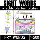 Fry Sight Words Activities for Kindergarten and First grade (200 words)
