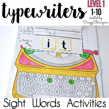 Sight Word Activities: Interactive Notebook (Level 1, words 1-10)