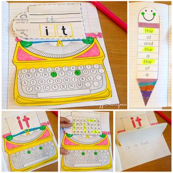 Journeys Kindergarten Sight Word Activities: Interactive Notebook