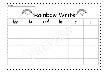 Sight Word Activities -List One