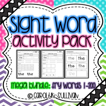 Sight Word Activities- MEGA BUNDLE PACK