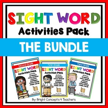 Sight Word Activities Pack- BUNDLE