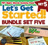 Sight Word Activities Pack • FRY • SET FIVE BUNDLE
