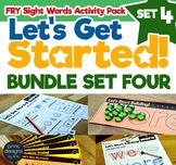 Sight Word Activities Pack • FRY • SET FOUR BUNDLE