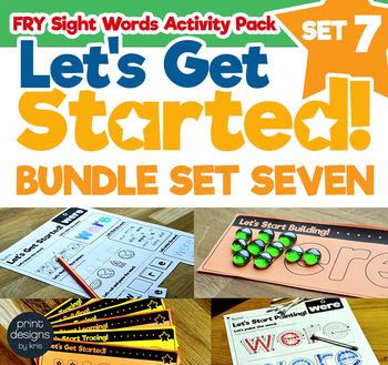 Sight Word Activities Pack • FRY • SET SEVEN
