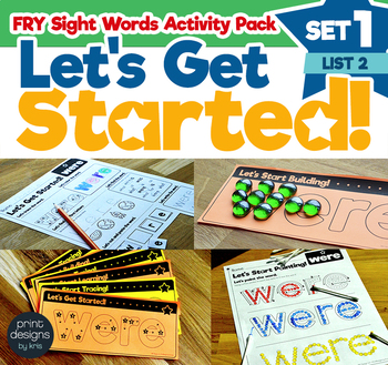 Sight Word Activities Pack • FRY Set ONE - List TWO