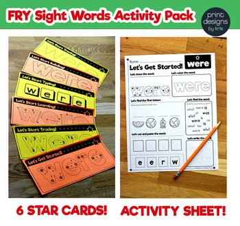 Sight Word Activities Pack • FRY Set THREE - List EIGHT