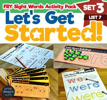 Sight Word Activities Pack • FRY Set THREE - List SEVEN
