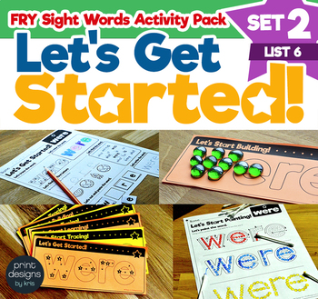 Sight Word Activities Pack • FRY Set TWO - List SIX