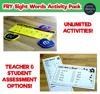 Sight Word Activities Pack • FRY • YEAR LONG GROWING BUNDLE