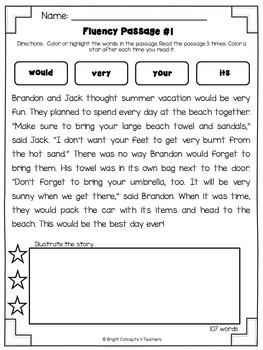 Sight Word Activities Pack- SECOND GRADE
