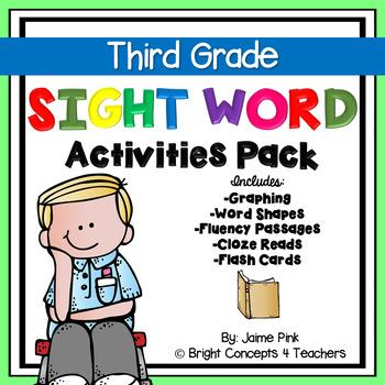 Sight Word Activities Pack- THIRD GRADE