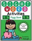 Sight Word Activities Piggy Bank