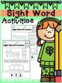 Sight Word Activities (Pre-Primer) Coronavirus Packet Dist