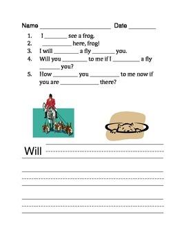 Sight Word Activities Pre-Primer List