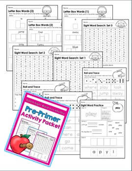 Sight Word Activities: Pre-Primer Packet