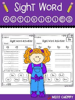 Sight Word Activities Primer