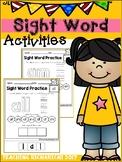 Sight Word Activities (Primer) Coronavirus Packet Distance